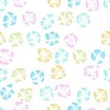 Colorful broken plates. Quarrel. Seamless pattern. Royalty Free Stock Photo