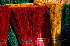 Colorful Brooms. Colorful Collection of Brooms at an art show Stock Images