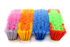 Colorful brooms Royalty Free Stock Photography