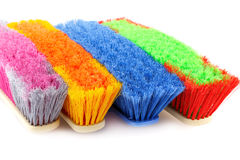 Colorful brooms Royalty Free Stock Photo