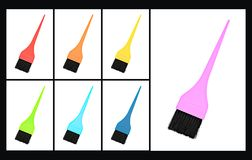 Colorful brush Royalty Free Stock Photos