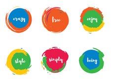 Funky Circles Set royalty free illustration