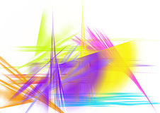 Colorful brush strokes Stock Photos