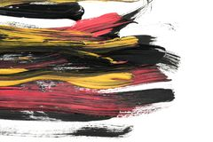 Colorful brush strokes royalty free stock photo