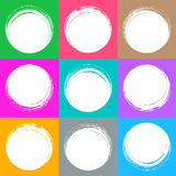 Colorful brush strokes circle buttons. Web design collection royalty free illustration
