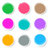 Colorful brush strokes circle buttons Stock Image