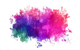 Colorful brush strokes cloud. Vector version Royalty Free Stock Photography