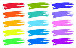 Colorful brush strokes color samples. Stock Image