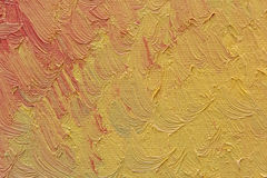 Colorful brush strokes oil paint on canvas Royalty Free Stock Photo