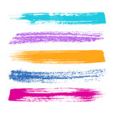Colorful brush strokes silhouettes Stock Photography