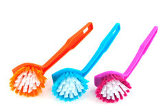Colorful brushes Stock Photo