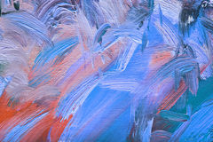 Colorful brushstrokes in oil on canvas Stock Image