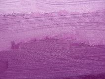 Colorful brushstrokes in oil on canvas. Purple abstract texture background. My own design, these brushstrokes are made by me. Closeup Royalty Free Stock Photo