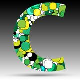Colorful bubble alphabet. Vector design Royalty Free Stock Images