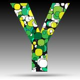 Colorful bubble alphabet. Vector design Royalty Free Stock Photo