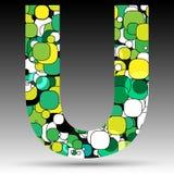 Colorful bubble alphabet. Vector design Stock Photo