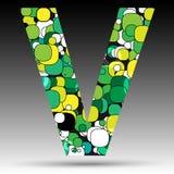 Colorful bubble alphabet. Vector design Stock Photos