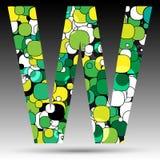 Colorful bubble alphabet. Vector design Royalty Free Stock Photos