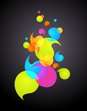 Colorful bubble background -1 Royalty Free Stock Image