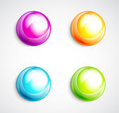 Colorful bubble buttons Stock Photos