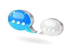 Colorful bubble chat icon Royalty Free Stock Photo