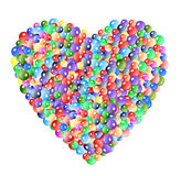 Colorful bubble heart Stock Images