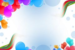 Colorful bubble left top corner, abstract background Royalty Free Stock Photography
