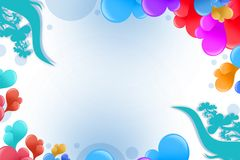 Colorful bubble right top corner, abstract background Stock Image