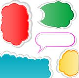 Colorful bubble for speech. Set of banners Royalty Free Stock Photo
