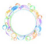 Colorful bubble vector background. Colorful abstract banner with transparent bubbles. Vector background Royalty Free Stock Photography