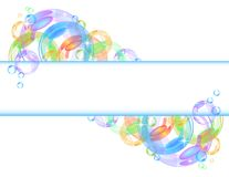 Colorful bubble vector background Stock Photo