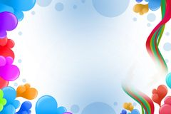 colorful bubble and waves, abstract background Stock Image