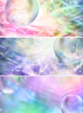 Colorful Bubble Website Banner Heads