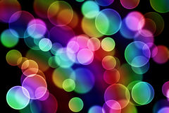 Colorful bubbles. Abstract background consisting of color glare Stock Photo