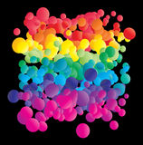 Colorful bubbles Stock Photos