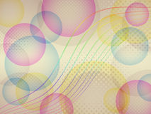 Colorful bubbles background Stock Images