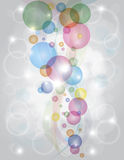 Colorful Bubbles Bokeh Background Stock Photo