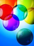 Colorful bubbles 3D background Stock Photos