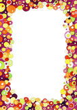 Colorful Bubbles Frame royalty free stock photography