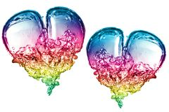 Colorful Bubbles hearts Royalty Free Stock Photography