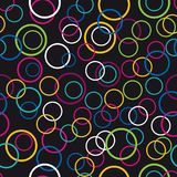 Colorful bubbles seamless background isolated on black color vector illustration