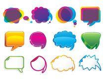 Colorful bubbles for speech. Image for design Royalty Free Stock Image