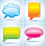 Colorful bubbles for speech. Imade for your design and more Stock Photography