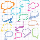 Colorful bubbles for speech. Stock Photos