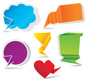 Colorful bubbles for speech. Image for design Stock Photography