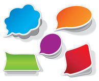 Colorful bubbles for speech. Image for design Royalty Free Stock Photo