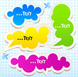 Colorful bubbles for speech stock photos