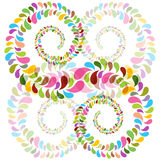 Colorful bubbles spirals Royalty Free Stock Image