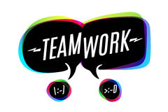 Colorful bubbles with text Teamwork vector illustration