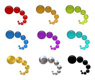 Colorful Bubbles Web Icons Stock Images